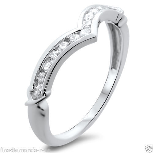 0.25ct Round Diamonds Wishbone Shaped Half Eternity Ring,18K White &Yellow gold