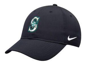 Nike-Legacy-91-L91-MLB-Seattle-Mariners-Navy-Blue-Baseball-Cap-Hat-One-Size-NEW