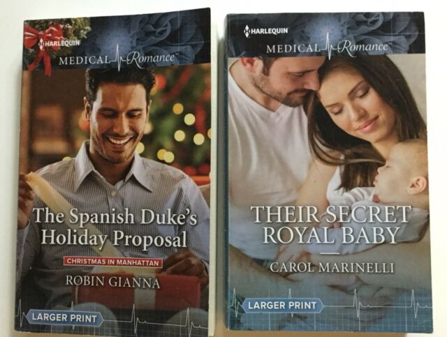 "Harlequin Medical Romance Larger Print - Lot Of 2 ""Their ..."