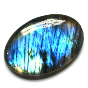 Cts-31-55-Natural-Blue-Fire-Labradorite-Cab-Oval-Cabochon-Loose-Gemstone