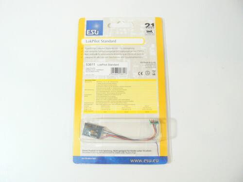 neu 8-pol.Kabel NEM 652 LokPilot Decoder Standard DCC//RailCom ESU 53611
