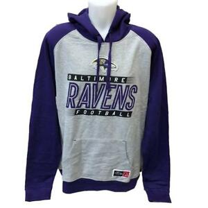 new product d96af e3abf Details about NFL Men's Baltimore Ravens Hoodie Sweatshirt 2X Football Gray  Hoody