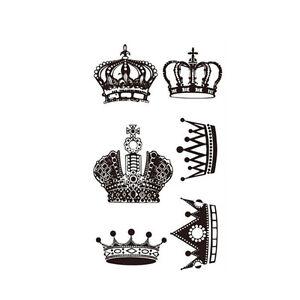 Waterproof Temporary Stickers Tattoo Heart Crown Body Art Ebay