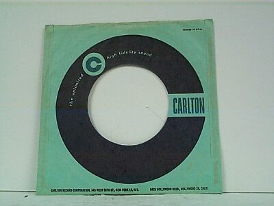 1-carlton Record Company 45's Sleeves Lot #151 For Sale Music