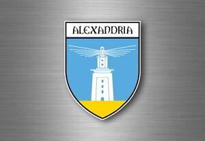 Autocollant-sticker-voiture-moto-blason-ville-drapeau-ecusson-alexandrie-egypte
