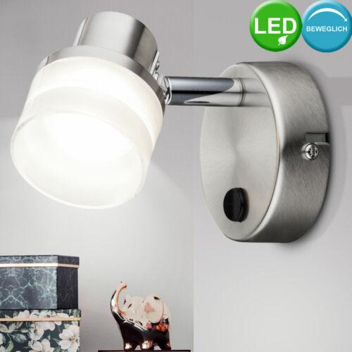 Hochwertige LED Wandleuchte Esszimmer Lampe Chrom Strahler flexibel DxT 8x11,5cm