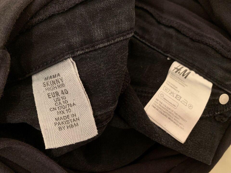 Jeans, H&M MAMA, str. 40 – dba.dk – Køb og Salg af Nyt og Brugt