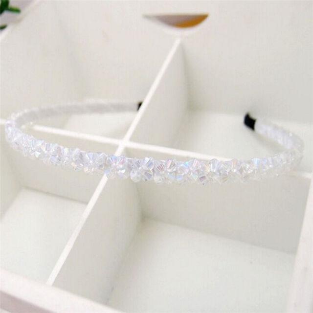 Fashion Girl Bead Crystal Head Headband Hair Band Hair Clasp Gift Wedding