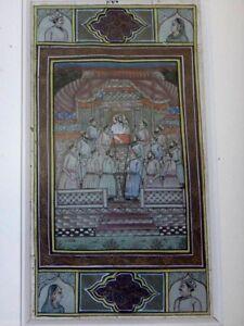 Ravissante-peinture-miniature-orientaliste-perse-Antique-persian-painting-1