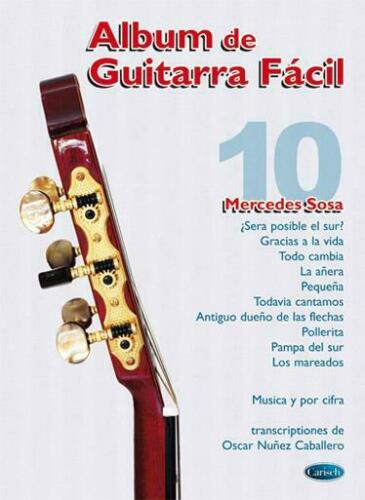 Album De Guitarra Facil N.10  Guitar Mercedes Sosa Book Only CARML1204