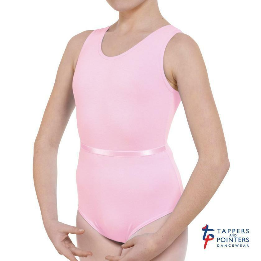 SALE Tappers & Pointers Children's Sleeveless Plain Front Leotard in RAD Colours