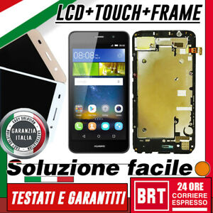 DISPLAY-LCD-TOUCH-SCREEN-FRAME-per-HUAWEI-ASCEND-Y6-SCL-L01-L21-SCHERMO-VETRO