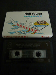 NEIL-YOUNG-LANDING-ON-WATER-ULTRA-RARE-AUSSIE-CASSETTE-TAPE