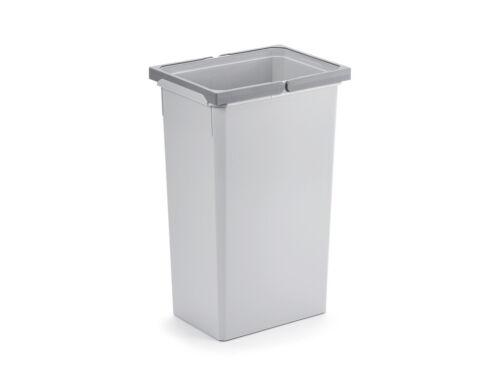 Ersatzeimer Abfallsammler für Frontauszüge hellgrau 35 Liter