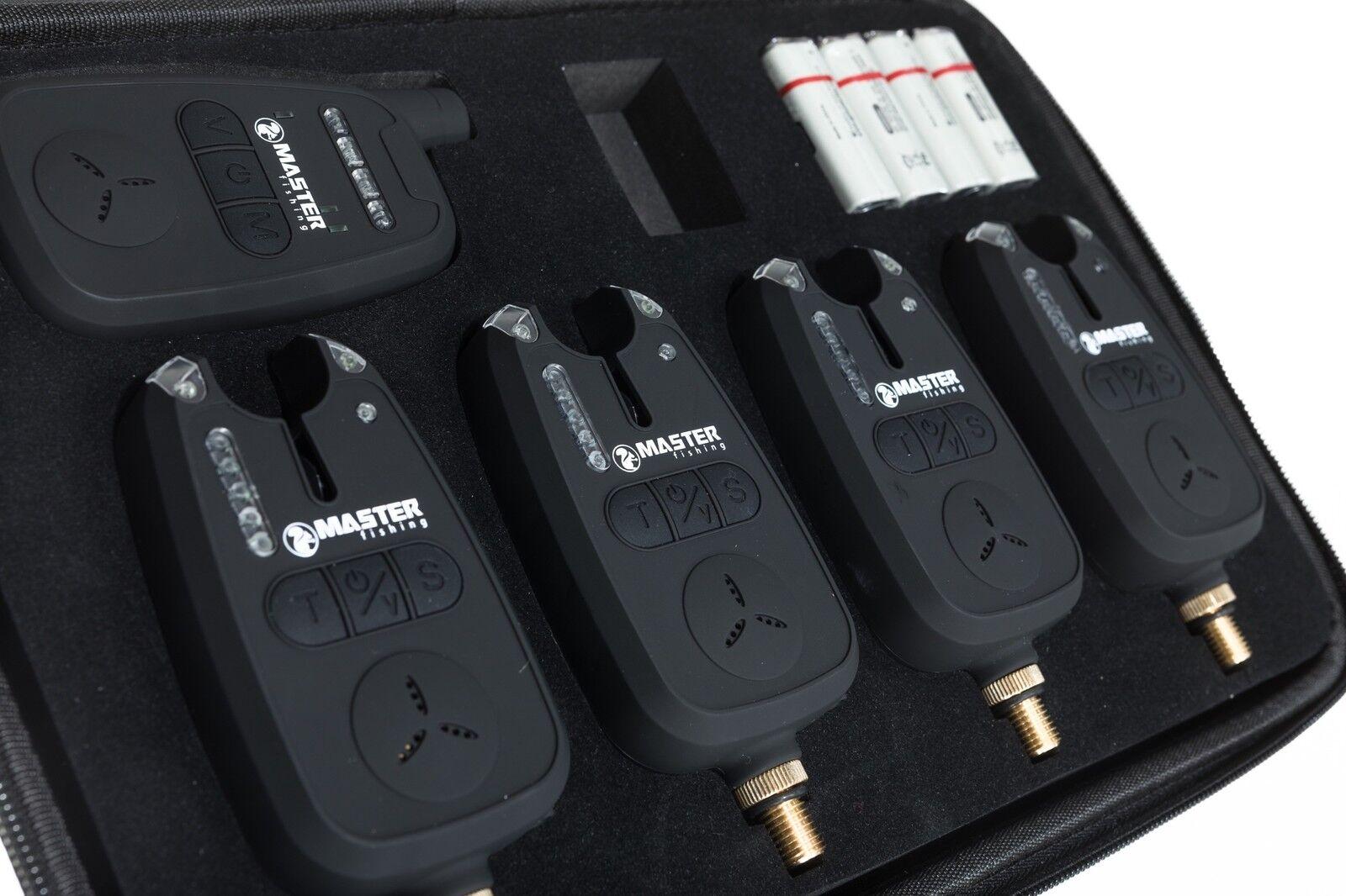 La PESCA Bite Alarm Set Wireless 2x 3x 4x tuttiARMI  rieciever in caso impermeabile