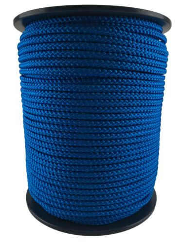 Poly cordon tressé souple 12 mm Tressé Polypropylène Corde bleu royal x 10 mètres