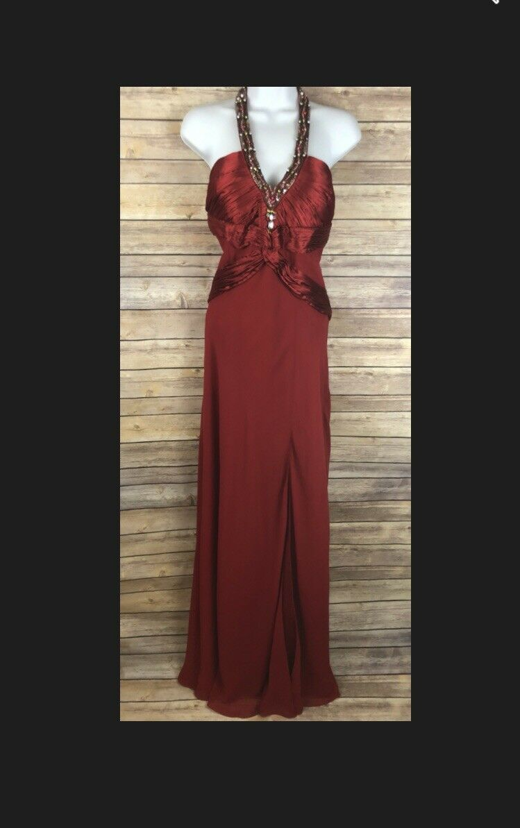 PRINCESS COLLECTION Ruby Red Red Red Beaded Ball Gown 5542c2