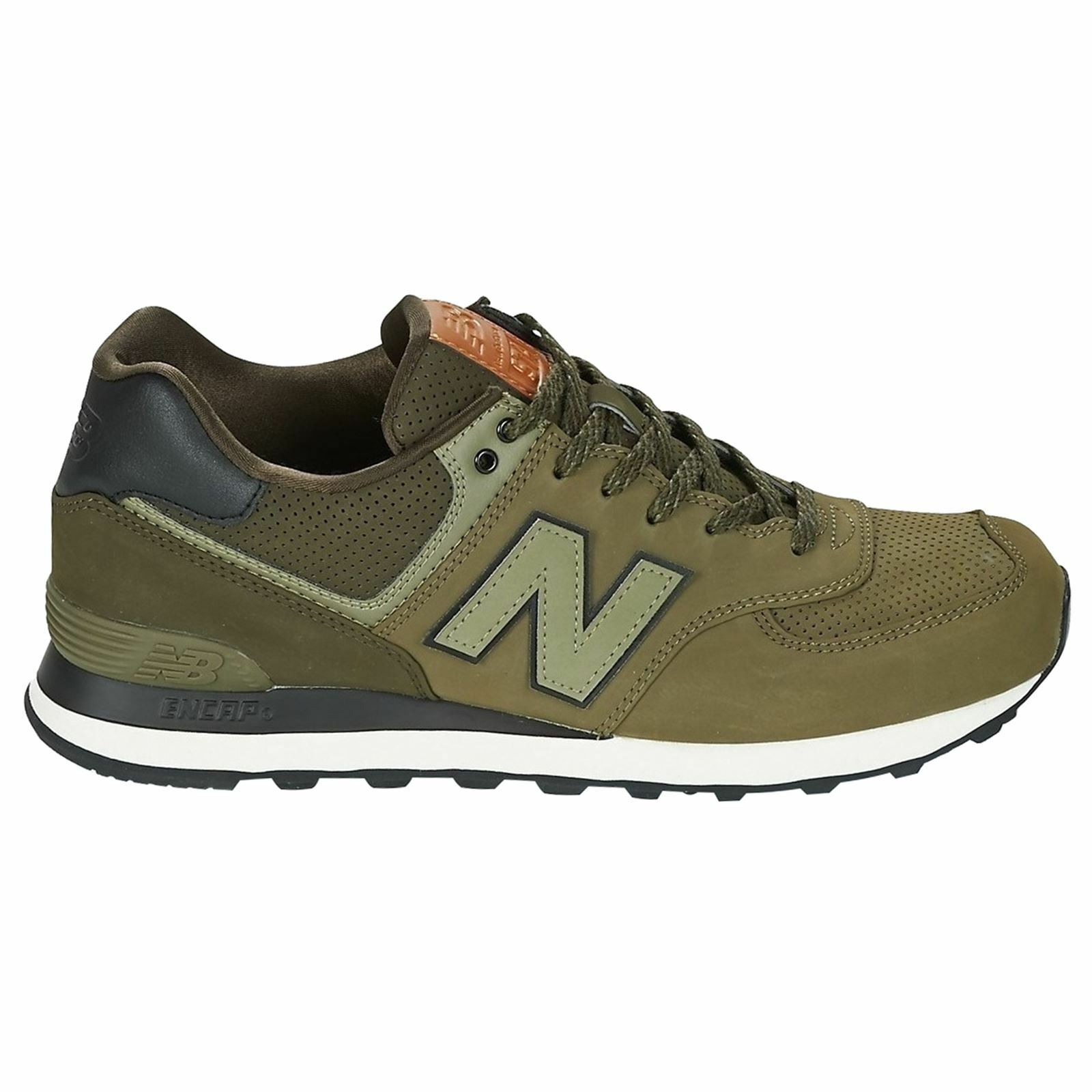 New Balance 574 Classics Triumph Green Dark Military Green Mens Trainers New