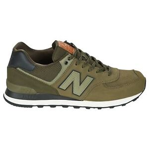 outlet store fb652 f2b1e Image is loading New-Balance-574-Classics-Triumph-Green-Dark-Military-