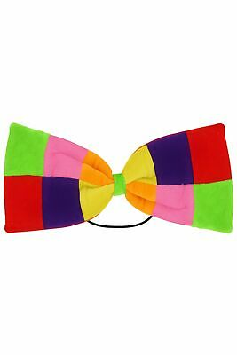 Affidabile Adulti Clown Novita 'patchwork Grande Papillon Costume Accessorio-mostra Il Titolo Originale Squisito Artigianato;