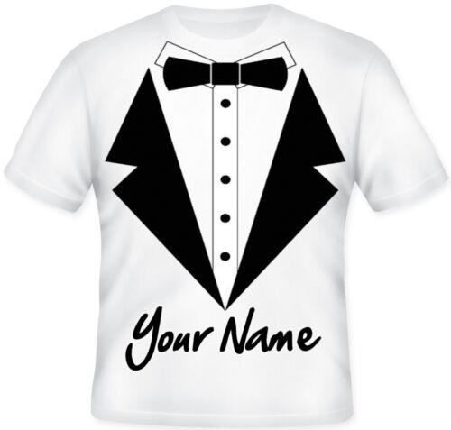 Kids Boys Tuxedo Bow Tie Fancy Dress Sublimation Personalised  T Shirt