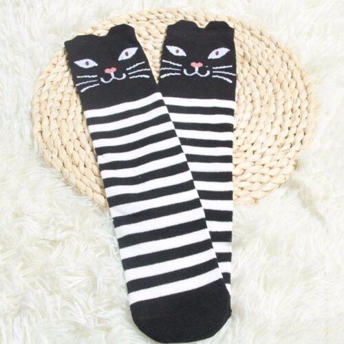 Kids Girls Cute Knee High Socks Animal Cartoon Printed  Cotton Tights Long Socks