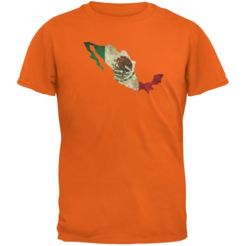 Cinco de Mayo Mexico Silhouette Orange Adult T-Shirt