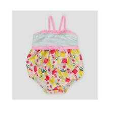 e0228180b Baby Cat & Jack Girls 6-9 Month 1piece Pink Striped Bathing Suit ...