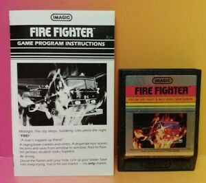 Atari-2600-Fire-Fighter-Game-amp-Instruction-Manual-Tested-Works-Rare