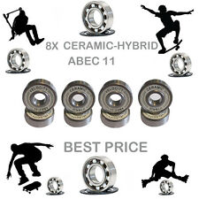 8 Precision Abec 11 hybrid ceramic bearings skate inline Skateboard scooter 9