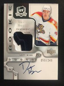 2006-07-UPPER-DECK-THE-CUP-DAVID-BOOTH-ROOKIE-PATCH-AUTO-ed-53-249-FLORIDA