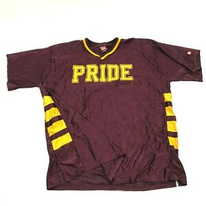 VINTAGE Wilson Mountain Pointe Pride Football Jersey Size 48 Maroon Yellow Vneck