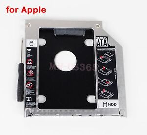Second SATA HDD SSD Caddy Adapter Tray For Apple MacBook Pro A1286 A1278 A1297
