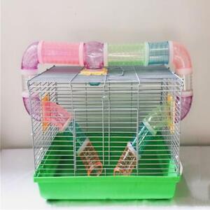 hamster-cage-Slide-Climb-Gerbil-Rat-Perch-Platform-Stand-Playground-Toy-Cage