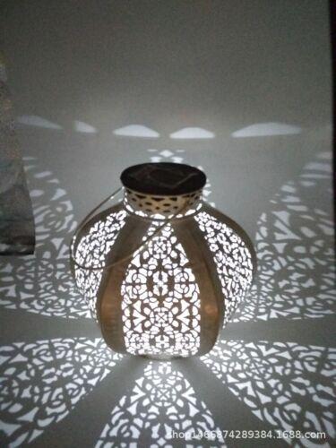 Solar Powered Damasque Lantern Decorative Silhouette Light Garden Outdoor LED