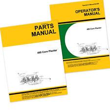 Operators Parts Manual For John Deere 490 Corn Planter Owners Catalog Seed Drill