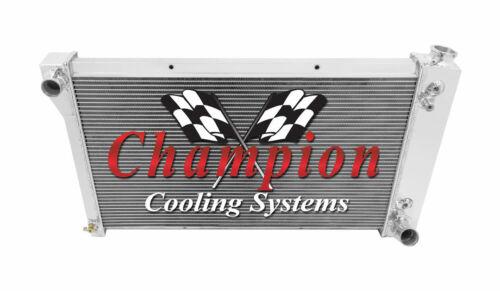 Polished Aluminum 3 Row Champion Radiator 1967-1991 Chevy Suburban Radiator