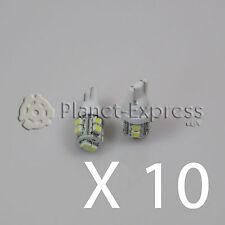 10 x Bombillas 10 LED SMD T10 W5W Coche Posicion lectura matricula Blanco Xenon