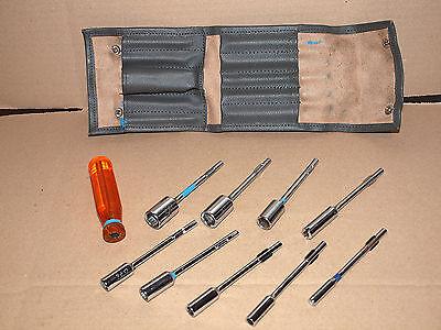 Set Aufsteckschlüssel Zoll Griff + Verlängerung + 8 x Steckschlüssel Nüsse Satz