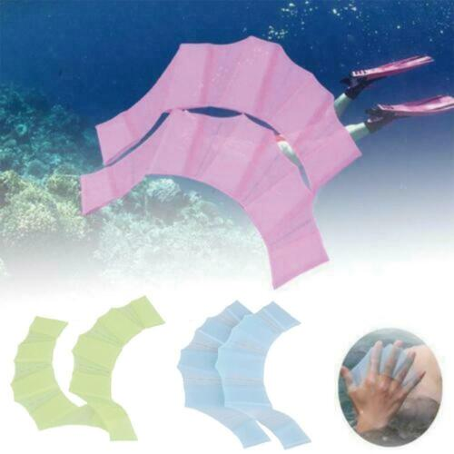 Details about  /Hydra Hand-Frog Silicone Hand Swimming Fins Handcuffs Swim Flipper C5U5 show original title