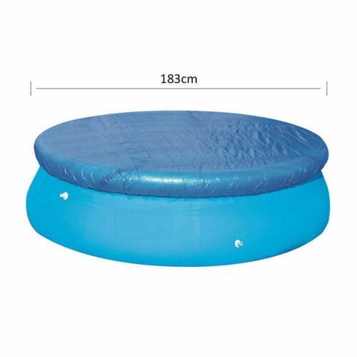 Bleu 6//8//10ft Rond Natation Pataugeoire Couverture gonflable facile Jeu Rapide Corde