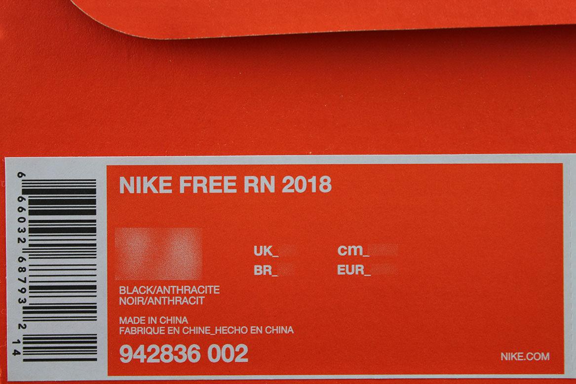 NIKE FREE RUN 2018 Noir /ANTHRACITE DARK GRAY RUNNING Hommes RN FLEX KNIT US Hommes RUNNING SIZES b21da4
