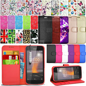 best website 0174b caf8e Details about For Nokia 1 / TA-1060 - Wallet Leather Case Cover Book Stand  + Touch Mini Stylus