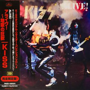 KISS CD - JAPANESE REMASTERED - ALIVE! - 2 CDS GATEFOLD - LIKE MINI LP - C139402