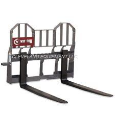 New 48 Virnig Hi Vis Walk Thru Pallet Forks Frame Attachment Skid Steer Loader
