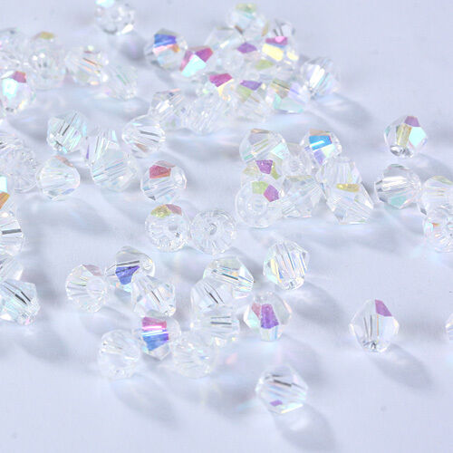 New Fashion DIY jewelry 3mm//4mm Glass Crystal AB #5301 Bicone beads 100//1000pcs