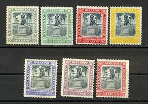 Barbados Scott 102-108 Mint hinged (Catalog Value $96.10)
