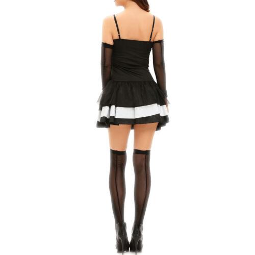 Costume vestito carnevale donna SCHELETRO skull abito travestimento DL-2170