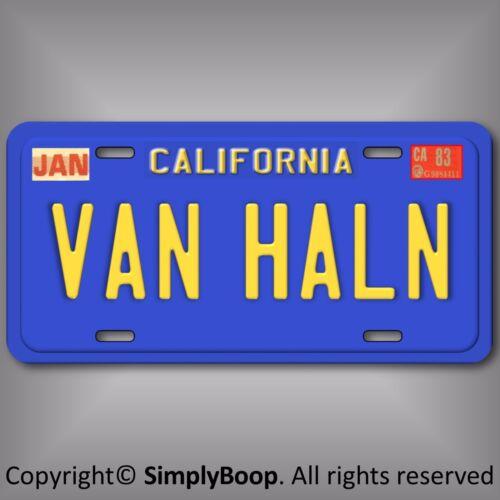 "California EDDIE VAN HALEN Prop Replica Aluminum Vanity License Plate Tag 6x12"""