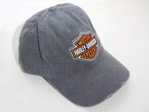 Harley-Davidson-Frayed-Bar-amp-Shield-B-amp-S-Baseball-Kappe-Cap-Grau-99412-16VM